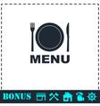 Menu icon flat vector image
