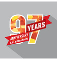 97th Years Anniversary Celebration Design vector image vector image