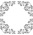 Abstract floral frame black contour vector image vector image