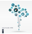 abstract medicine background growth flower vector image vector image