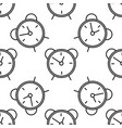 alarm clock line icon seamless pattern vector image
