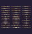 art deco borders retro dividers shapes decorative vector image vector image
