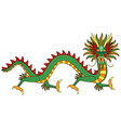 asian dragon print vector image vector image