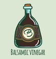 balsamic vinegar icon hand drawn style vector image