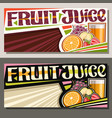 banners for fruit juice vector image vector image