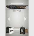 black friday best deals web banner template vector image