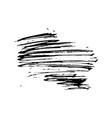 black ink paint brush stroke calligraphic scratch vector image