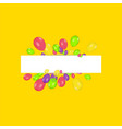 blank banner with color balloons and confetti vector image