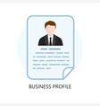 Business Profile Icon Flat Design Concept vector image