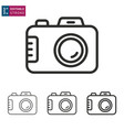 camera line icon on white background editable vector image vector image