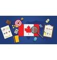 canada economy economic rising vector image