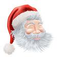 christmas santa claus face vector image vector image