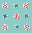 christmas stars and snow collection background for vector image vector image