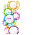 Circle design background with overlapping circles vector image vector image