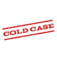 Cold Case Watermark Stamp vector image vector image