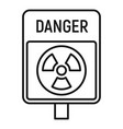 danger zone icon outline style vector image vector image
