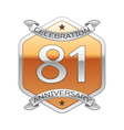 Eighty one years anniversary celebration silver vector image vector image