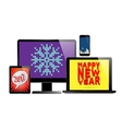 Electronic new year set vector image vector image
