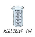 empty measuring cup kitchen tools collection vector image