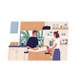 everyday routine young couple household vector image vector image