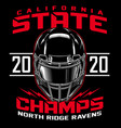 football state champs t-shirt graphic vector image vector image