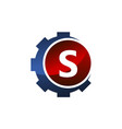 gear icon letter s vector image
