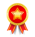Golden Medal With Star vector image vector image