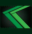 green arrow speed direction on hexagon mesh vector image