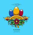happy easter poster invitation to party vector image