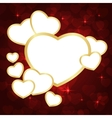 heart frame red vector image