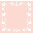 hearts and flowers frame border background vector image vector image