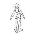 hipster man back view in casual clothes vector image
