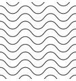 horizontal thin wavy lines seamless pattern vector image vector image