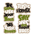 keep bag lettering vector image vector image