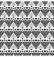 Lace white seamless mesh pattern vector image vector image