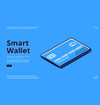 landing page smart wallet mobile payment vector image vector image