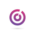 Letter O number 0 target logo icon design template vector image vector image
