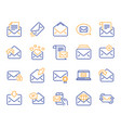 mail message line icons set of newsletter e-mail vector image