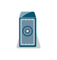 mechanical strongbox icon in flat style vector image vector image