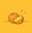 orange open by half vector image vector image