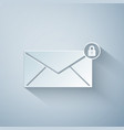 paper cut email message lock password icon vector image vector image
