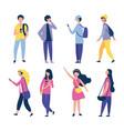 people outdoor activities vector image vector image