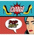 Pop art cartoon graphics vector image