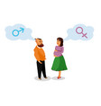 pregnant woman with husband design element vector image