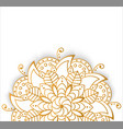 round gold mandala on white isolated background vector image vector image