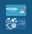 sea cruise adventure set business cards vector image vector image