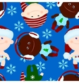 seamless background baby kid christmas vector image vector image