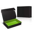 set of black cardboard box package for software vector image vector image