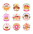 Set of Confectionery Logos Isolated Sweets vector image vector image