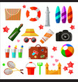 set of different beach and relax icons and vector image